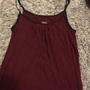 RED COTTON NIGHTGOWN